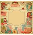Retro Merry Christmas Card vector image