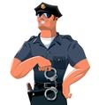 Smiling policeman vector image vector image