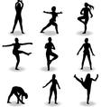 dance women silhouette vector image