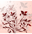 flowering shrubs pattern vector image
