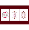 Set of Saint Valentines day hand drawn greeting vector image