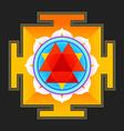 colored Durga yantra vector image