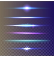 Set of glow light effect stars burst vector image