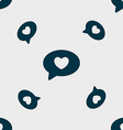 Heart icon sign Seamless pattern with geometric vector image