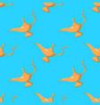 aladdin genie cartoon seamless pattern on blue vector image