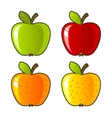 aloneapple background bright color dessert diet vector image