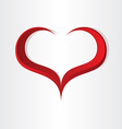 red heart shape abstract icon design vector image