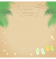 Summer vacation background vector image