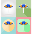 objects for recreation a beach flat icons 06 vector image
