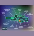 laser tag game laser gun infographics in trendy vector image
