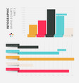 flat design infographic elements vector image