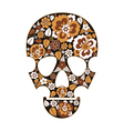 Skull with flowers vector image vector image