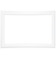 Blank white photo frame vector image
