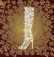 high heel boot fashion background- vector image