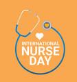 international nurse day label vector image