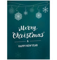 merry christmas card template design vector image