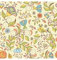 pattern with abstract flowers and bird vector image