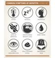 symptoms of hepatitis icon set vector image