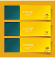 Set of Bannerss STEP 1 2 3 with Different Shadow vector image