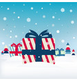 xmas postcard with gifts vector image