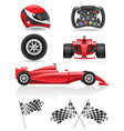 set racing icons vector image vector image
