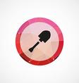 Shovel crane circle pink triangle background icon vector image