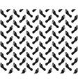Seamless footprint pattern vector image vector image