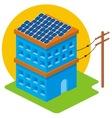isometric solar house vector image