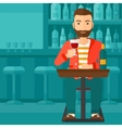 Man sitting at bar vector image