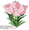 April Showers vector image