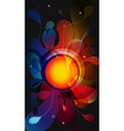 Abstract dark mobile phone backgrounds with flower vector image