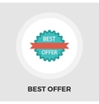 Best Offer flat icon vector image