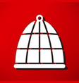 bird cage icon vector image
