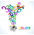 Color background Numbers vector image