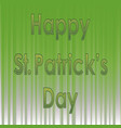 happy st patricks day banner vector image