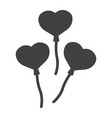 heart shaped balloons glyph icon valentines day vector image