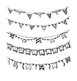 Holiday garlands with light bulbs party lights and vector image
