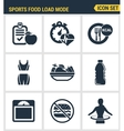 Icons set premium quality of fitness icon Sports vector image