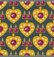jewelry items golden heart elegance vector image