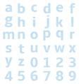 lowercase alphabet graph paper vector image