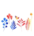 set of watercolor plants vector image