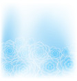 beautiful blue rose flower background vector image