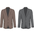 Brown and Gray male coats vector image