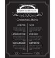 Christmas food menu on chalk Board Christmas vector image