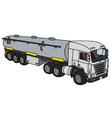 Big tank truck vector image