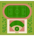 baseball stadiums vector image