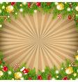Christmas Vintage Border With Old Sunburst vector image