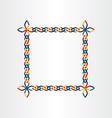 color square decorative birthday frame design vector image