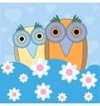 funny cartoon owls vector image