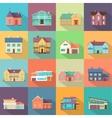Houses Set Architecture Variations Flat Design vector image